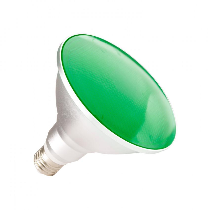 Lâmpada LED E27 PAR38 15W Waterproof IP65 Luz Verde
