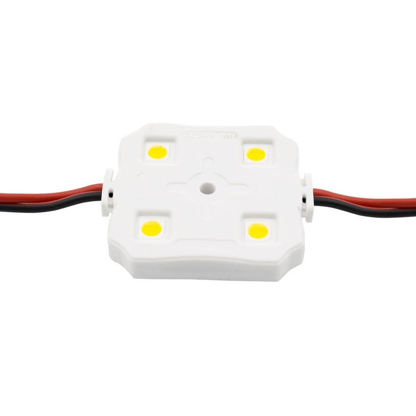 Corrente de 20 Módulos Quadrados de 4 LEDs SMD5050 12V 1W