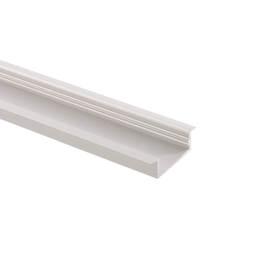 Perfil de Alumínio Encastrado 1m para Dupla Fita LED