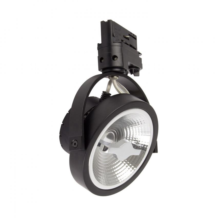 Foco LED Cree AR111 15W Regulável Preto para Carril Trifásico
