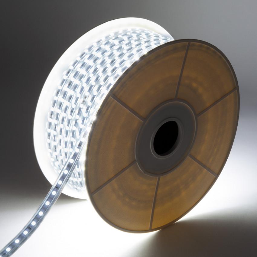 Bobina de Tira LED Regulable 220V AC 60 LED/m 50m Blanco Frío IP65 Corte cada 100 cm