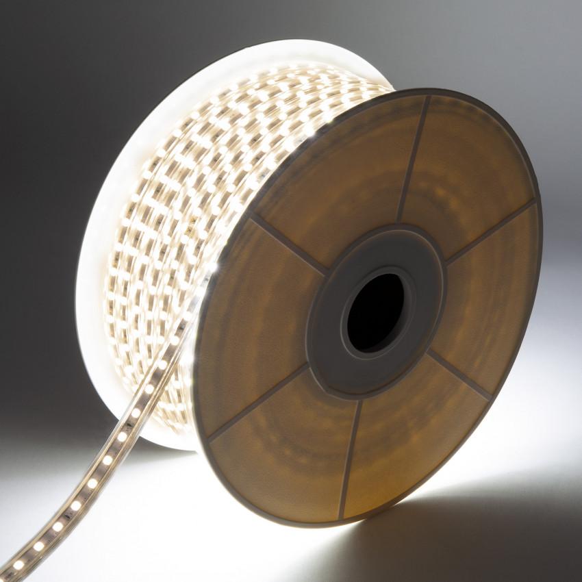 Rolo de Fita LED Regulável 220V AC 60 LED/m 50m Branco Quente IP65 Corte cada 100cm