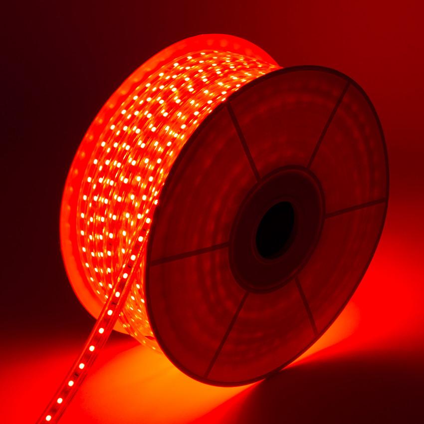 Bobina de Tira LED Regulable 220V AC 60 LED/m 50m Rojo IP65 Corte cada 100 cm