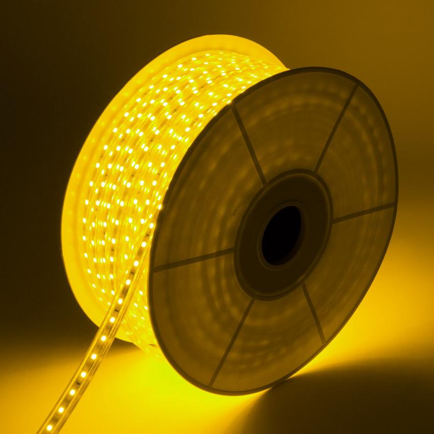 Bobina de Tira LED Regulable 220V AC 60 LED/m 50m Amarillo IP65 Corte cada 100 cm