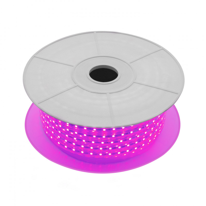 Bobina de Tira LED Regulable 220V AC 60 LED/m 50m Violeta IP65 Corte a los 100cm