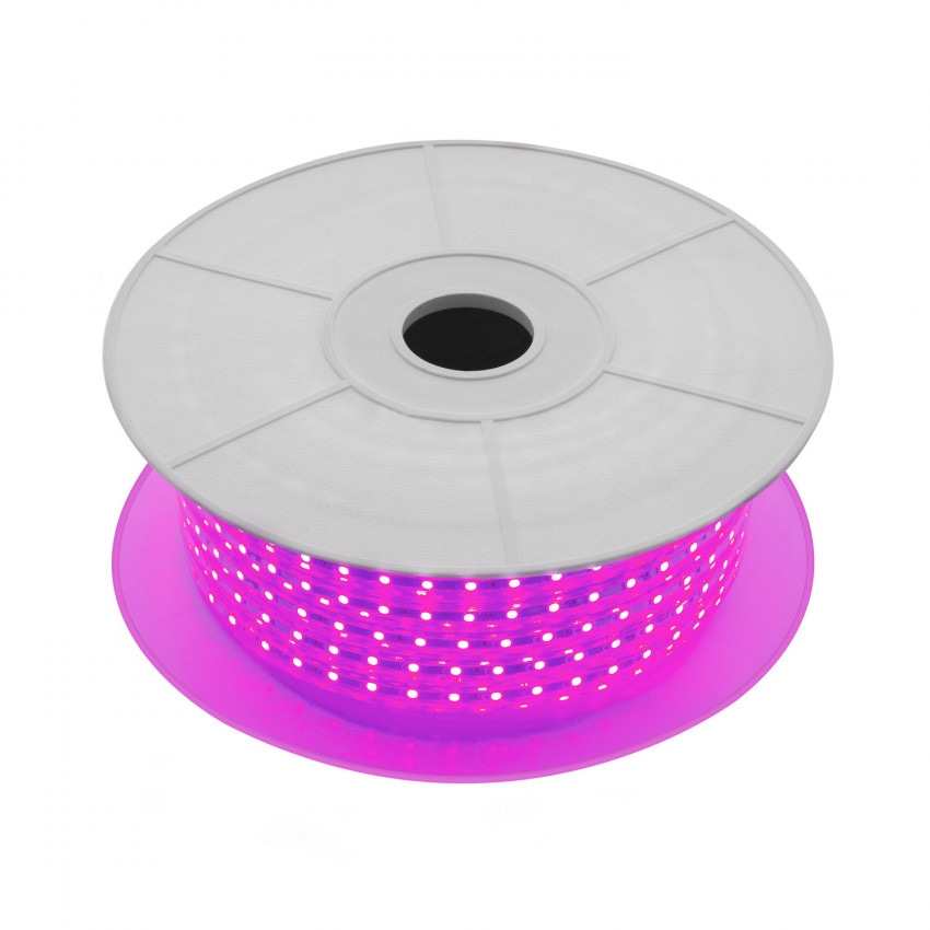 Bobina de Tira LED Regulable 220V AC 60 LED/m 50m Violeta IP65 Corte cada 100cm