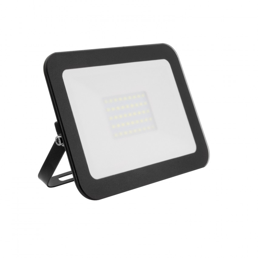 Foco Proyector LED 30W 120lm/W IP65 Slim Cristal Negro
