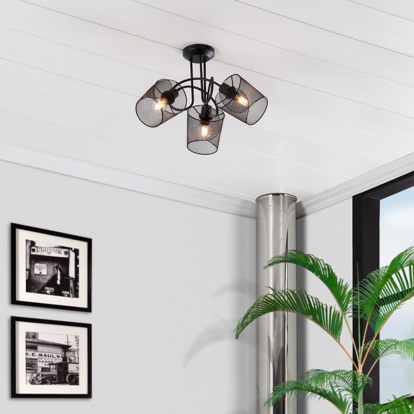 Lámpara de Techo Klam 3 Focos Negro