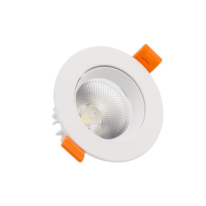 Foco Downlight LED COB Direccionável Circular 9W (UGR19) Branco Corte Ø 90 mm