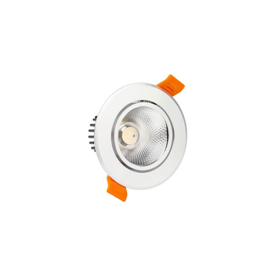 Foco LED Downlight Circular COB 3W Prata
