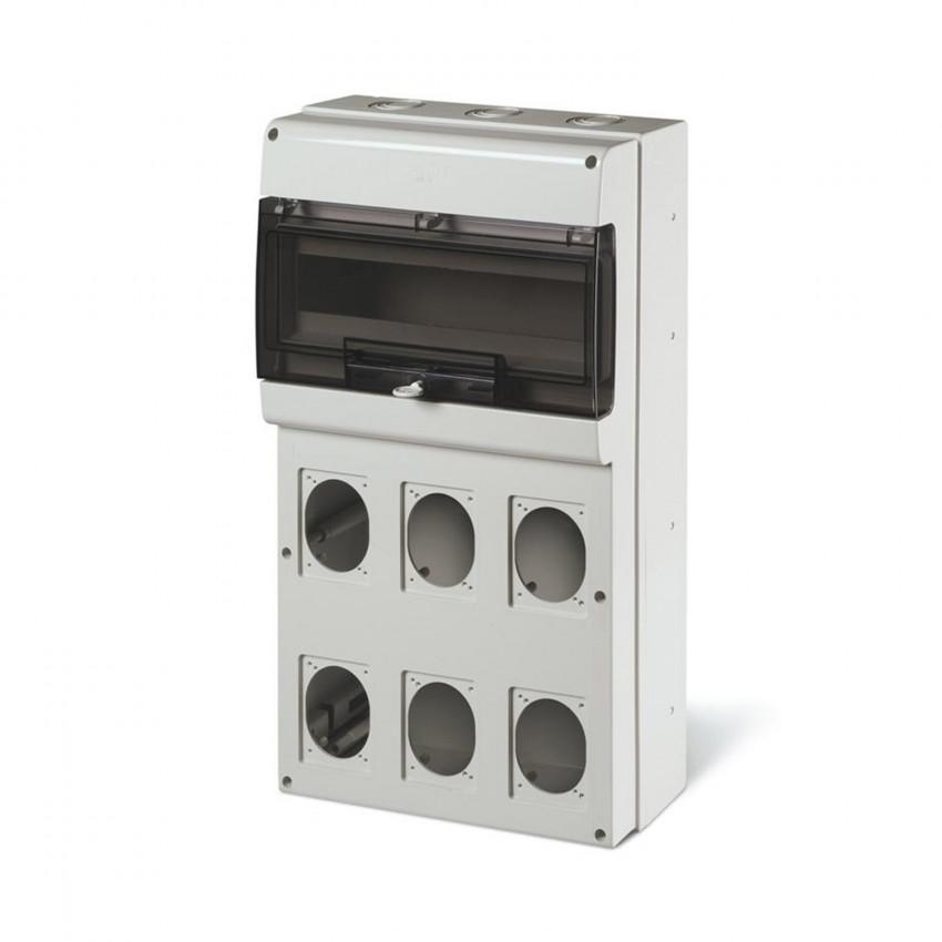 Cuadro de Distribución 16 Módulos DIN 6 Tomas IP66 Domino SCAME
