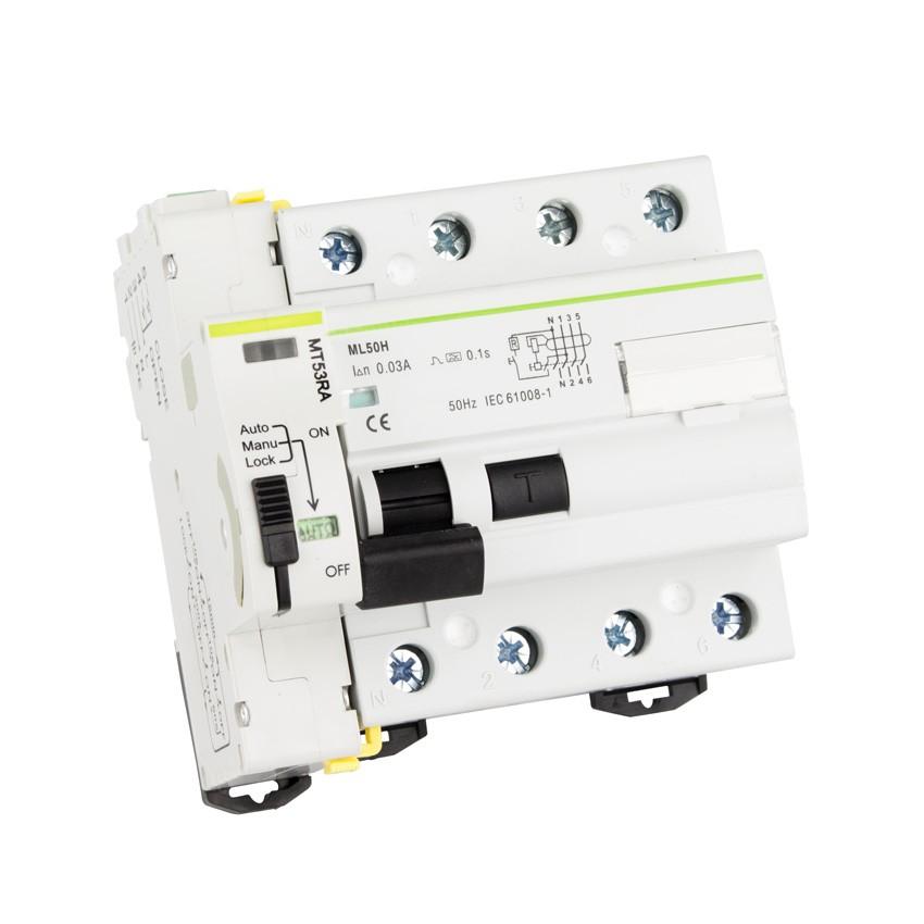 Interruptor Diferêncial Reajustável Compacto MAXGE 4P-300mA-10kA
