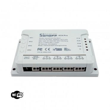 SONOFF 4 CH  PRO R2 Dispositivo Interruptor Conmutador Control WiFi/Remoto  4 Canales