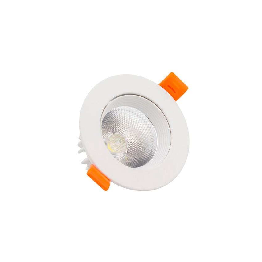 Foco Downlight LED 3W COB Direcionável Circular (UGR19) Branco Corte Ø 55 mm CRI92 Expert Color