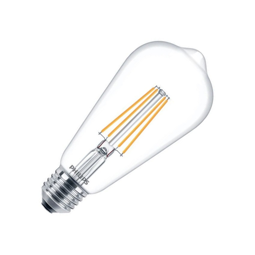 Bombilla LED E27 ST64 Filamento PHILIPS CLA Big Lemon 7W