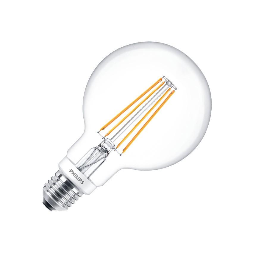 Lâmpada LED E27 G93 Filamento PHILIPS Globo CLA 7W