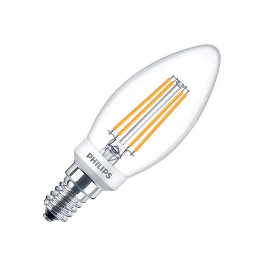Bombilla LED E14 B35 Regulable Filamento PHILIPS Candle CLA 4.5W