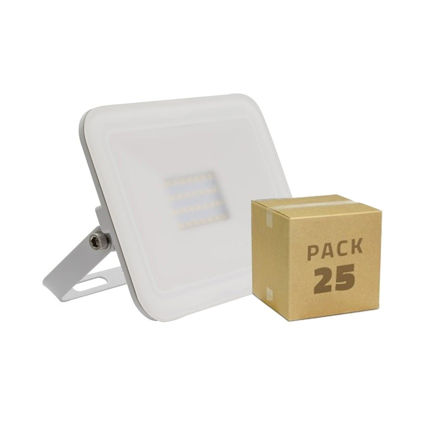 Pack Foco LED Slim Cristal 20W Blanco (25x5.99€)