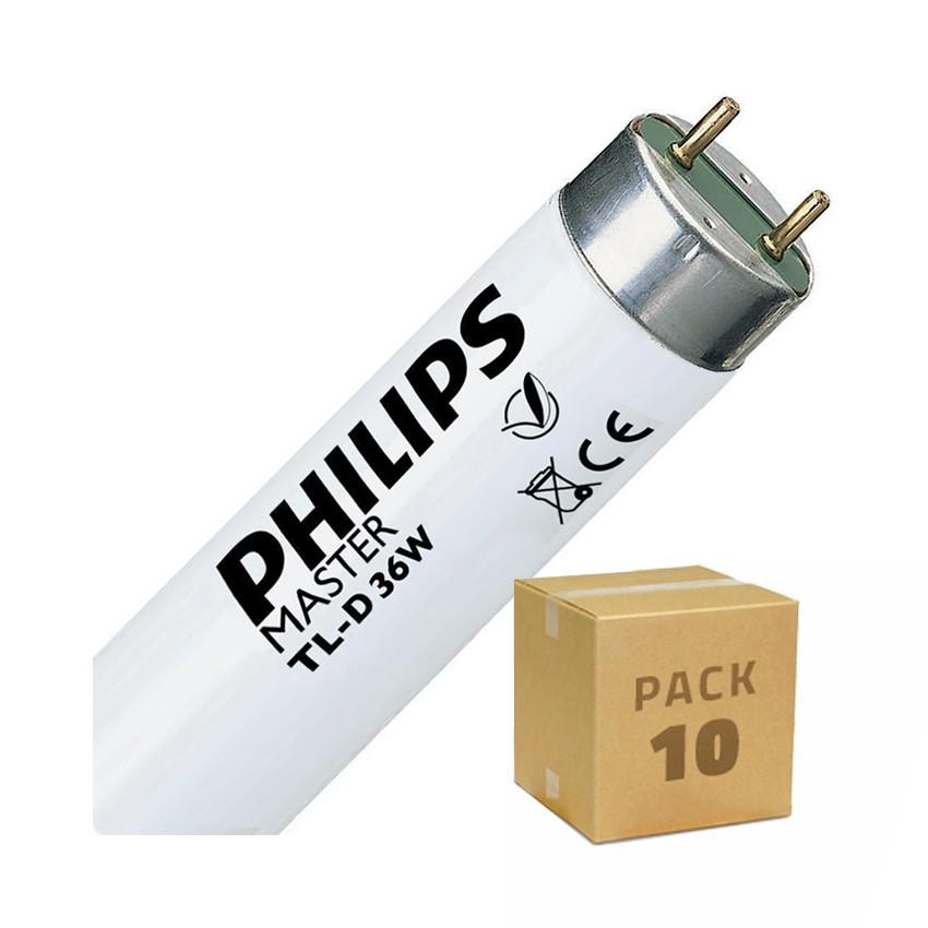 Pack Tubo Fluorescente Regulável PHILIPS T8 1200mm Conexão Bi-Lateral 36W (10un)