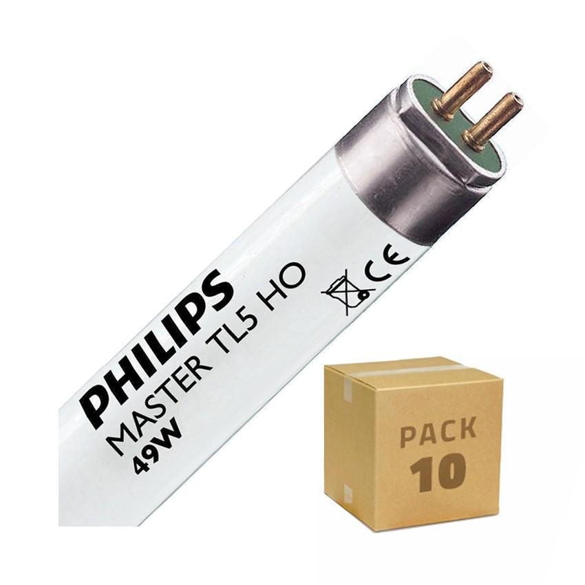 Pack Tubo Fluorescente Regulável PHILIPS T5 HO 1450mm Conexão Bi-Lateral 49W (10un)