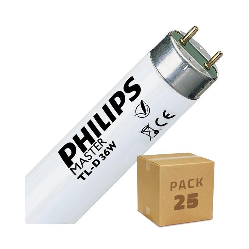 Pack Tubo Fluorescente Regulável PHILIPS T8 1200mm Conexão Bi-Lateral 36W (25un)