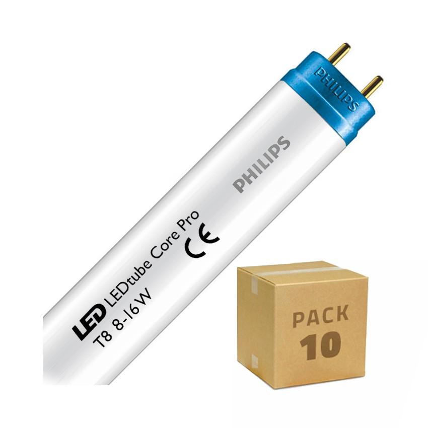 Pack Tubos LED PHILIPS CorePro T8 600mm Conexión un Lateral 8W 100lm/W (10 un)