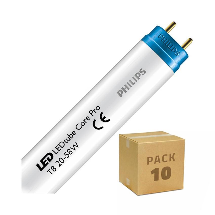 Pack Tubos LED PHILIPS CorePro T8 1500mm Conexión un Lateral 20W 110lm/W (10 un)