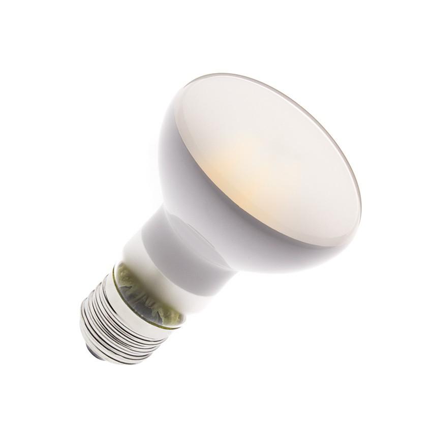 Bombilla LED E27 Regulable Filamento R63 Frost 6W