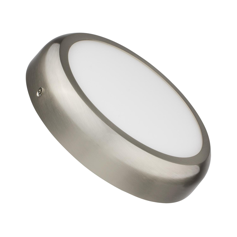 Placa Superfície LED Circular Silver Design 18W