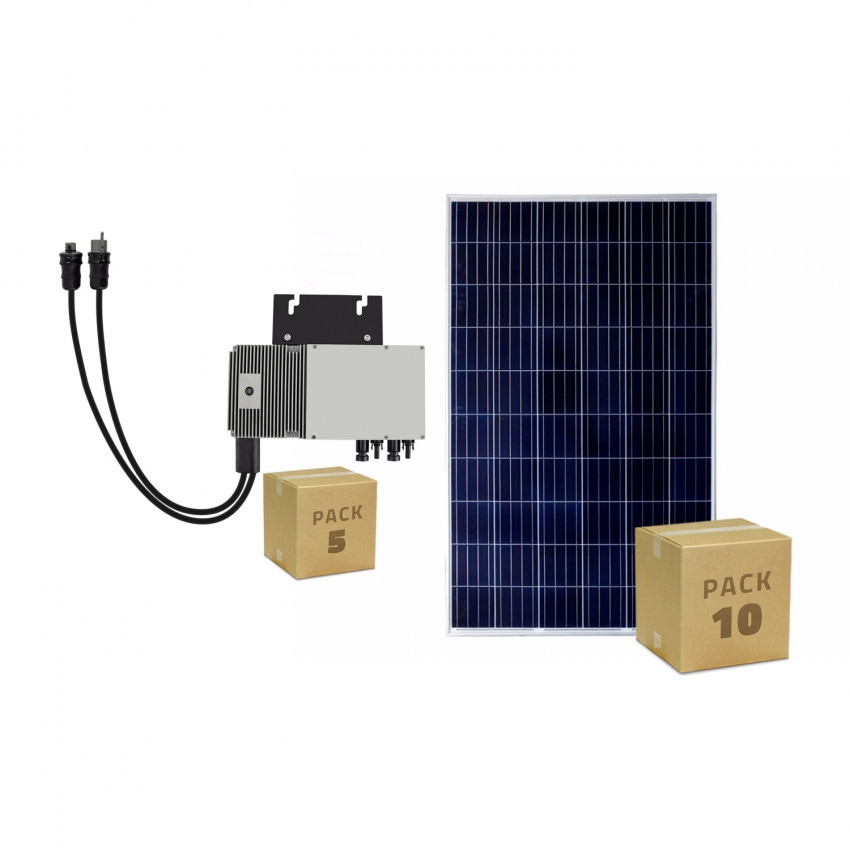 Pack 10 Panel Solar Fotovoltaico Policristalino 320 W BYD Clase A + 5 Microinversor 600 W