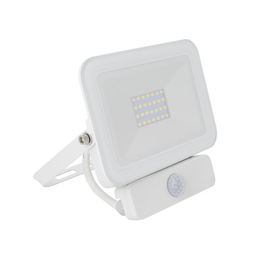 Foco Projector LED Slim com Detector de Movimento PIR 20W
