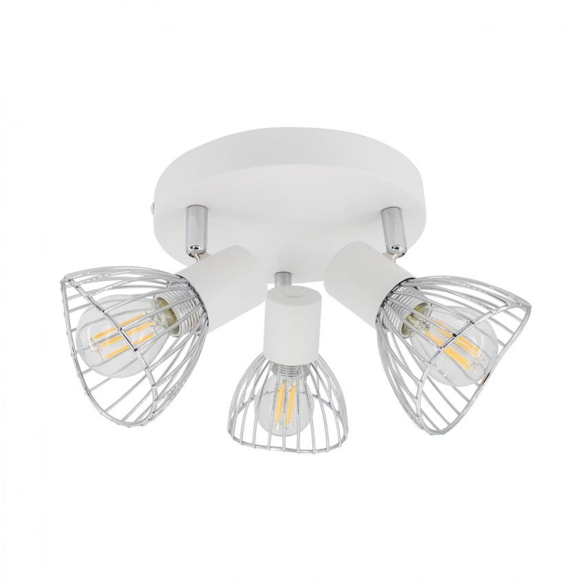 Lámpara de Techo Circular Orientable Saban 3 Focos Blanco