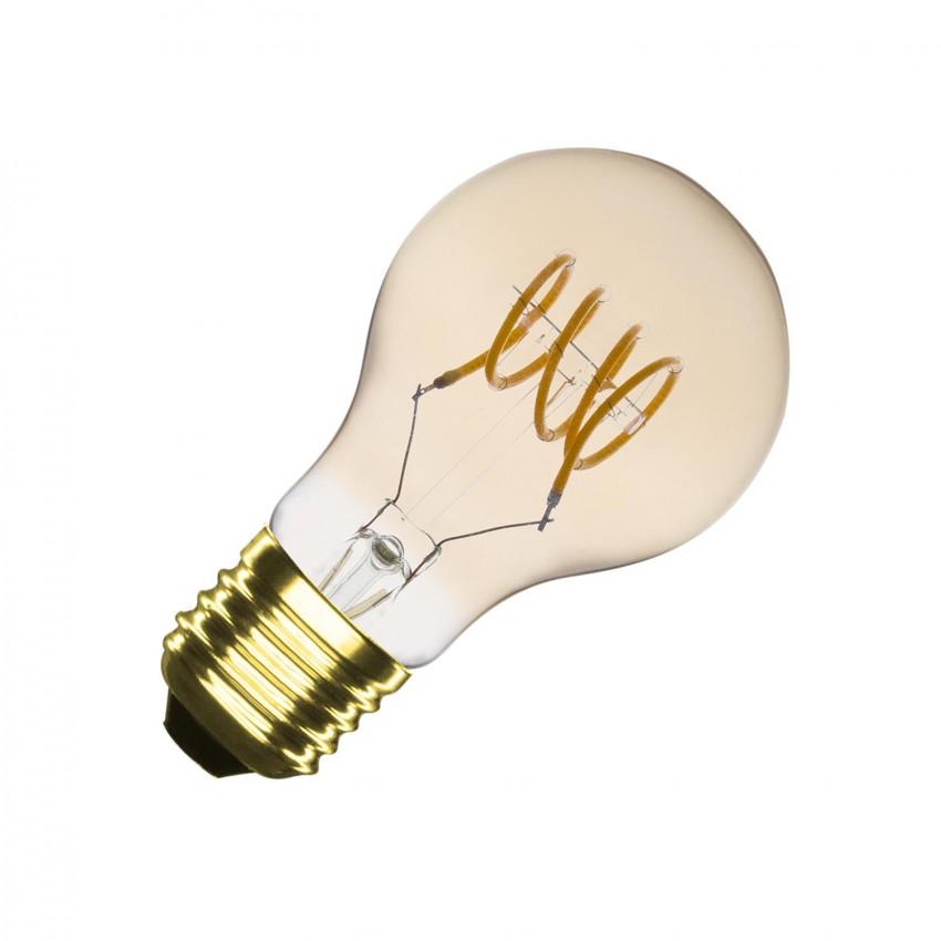 Lâmpada LED E27 Regulável Filamento Espiral Gold Classic A60 4W
