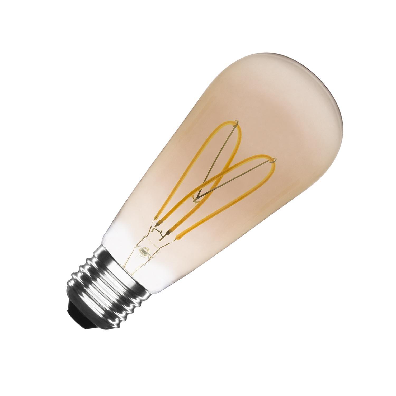Bombilla LED E27 Regulable Filamento Love ST64 4W