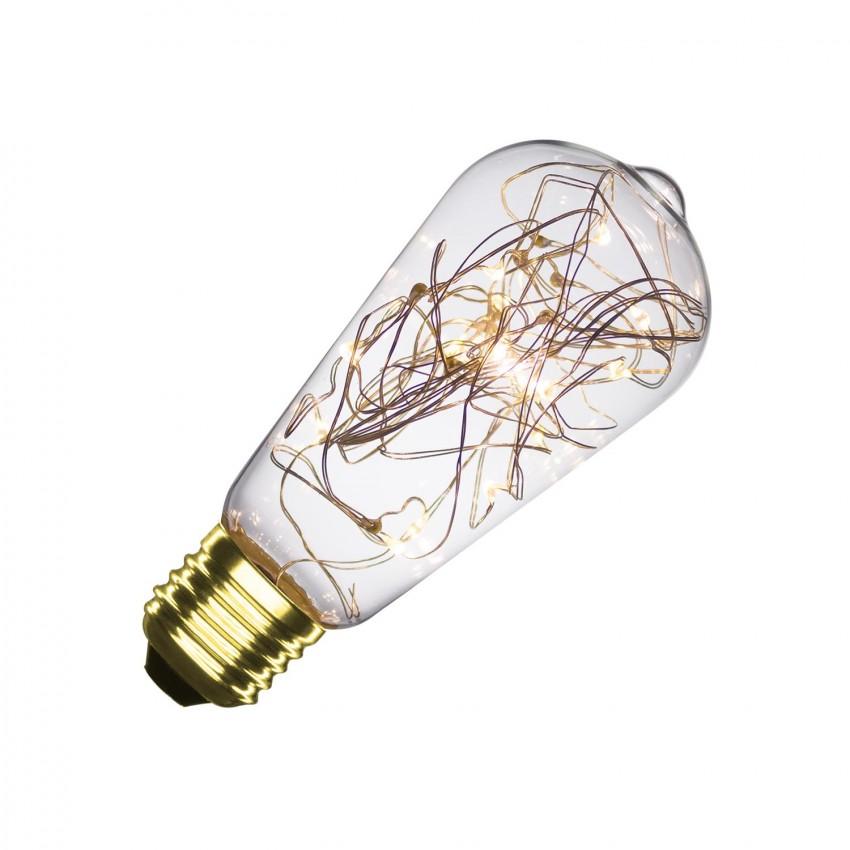 Bombilla LED E27 Filamento Luces Lemon ST58 1.5W