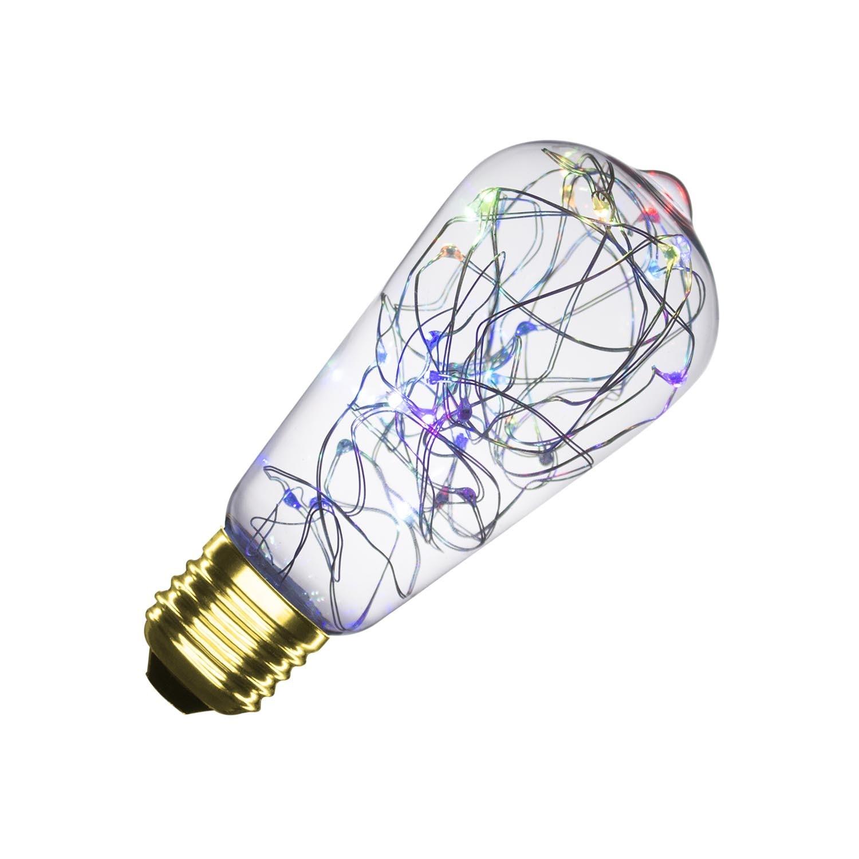 Bombilla LED E27 Regulable Filamento Hada RGB ST58 1W
