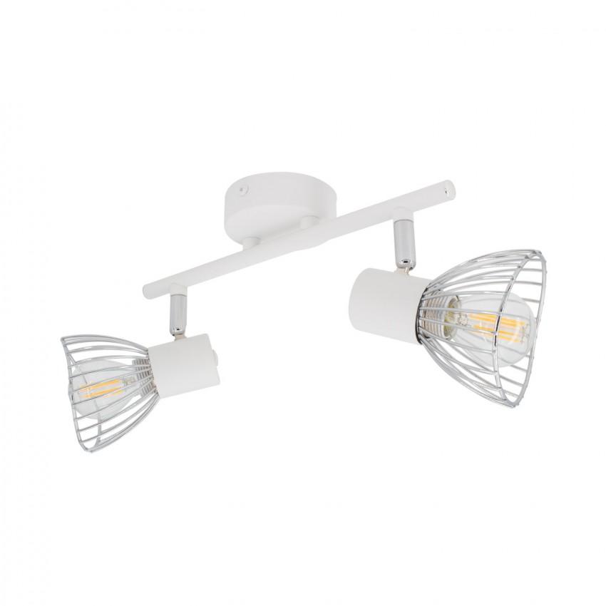 Lámpara de Techo Orientable Saban 2 Focos Blanco