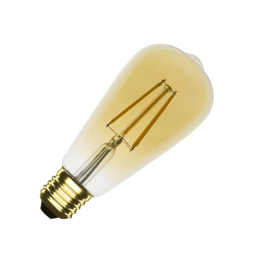 Lâmpada LED E27 Regulável Filamento Gold Big Lemon ST64 5.5W