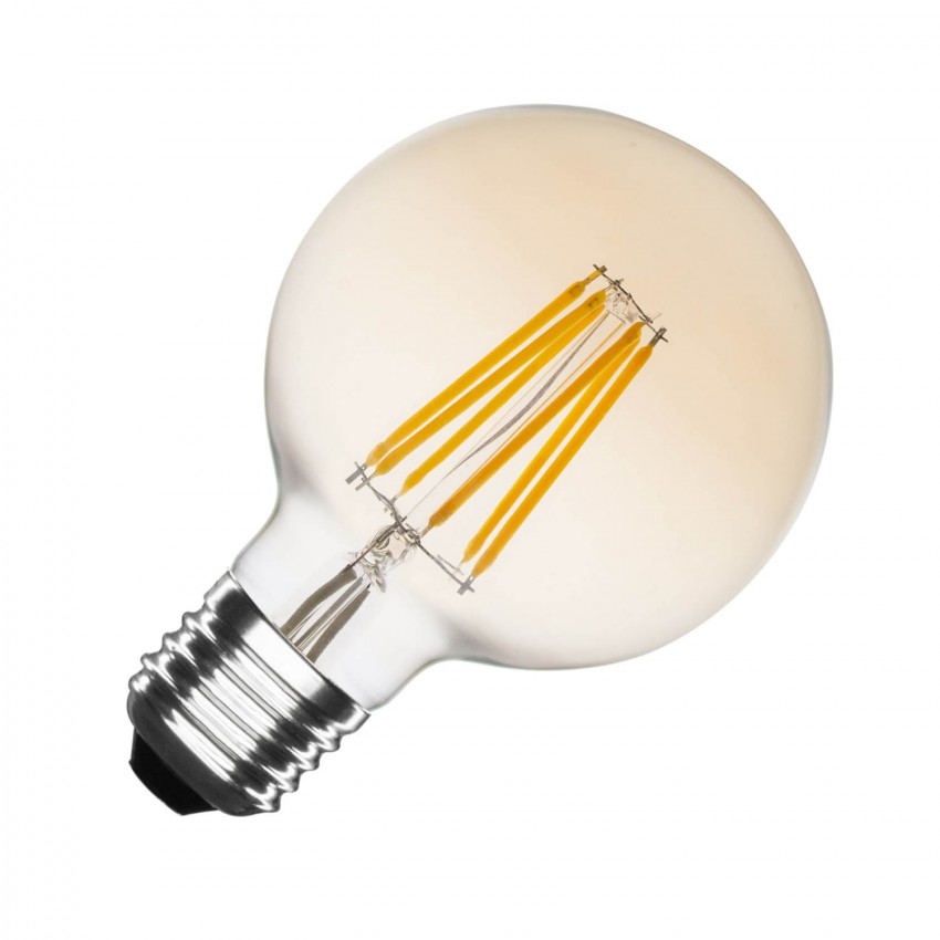 Bombilla LED E27 Regulable Filamento Gold Globo G80 5.5W