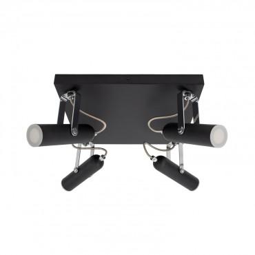 Foco LED Orientable Quvu 4x4W Negro