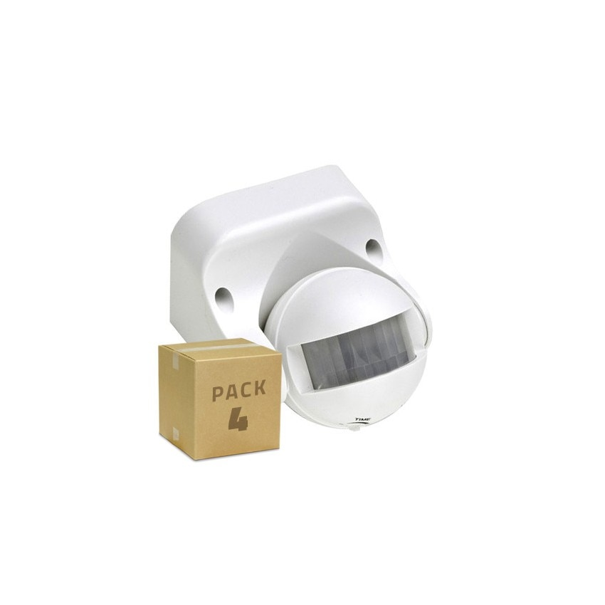 Pack Detector de Presença PIR 180º Superfície (4 Un)