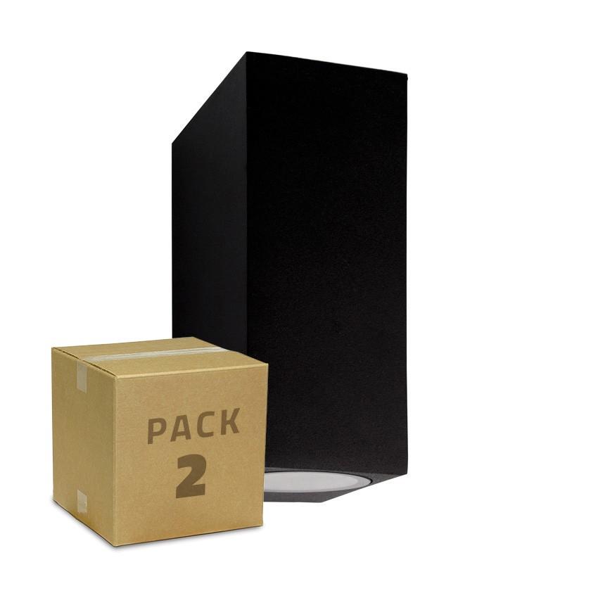 Pack Aplique Miseno Negro Iluminación Doble Cara (2 un)