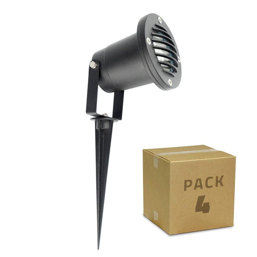 Pack Foco LED con Pincho Gotham 3W (4 un)