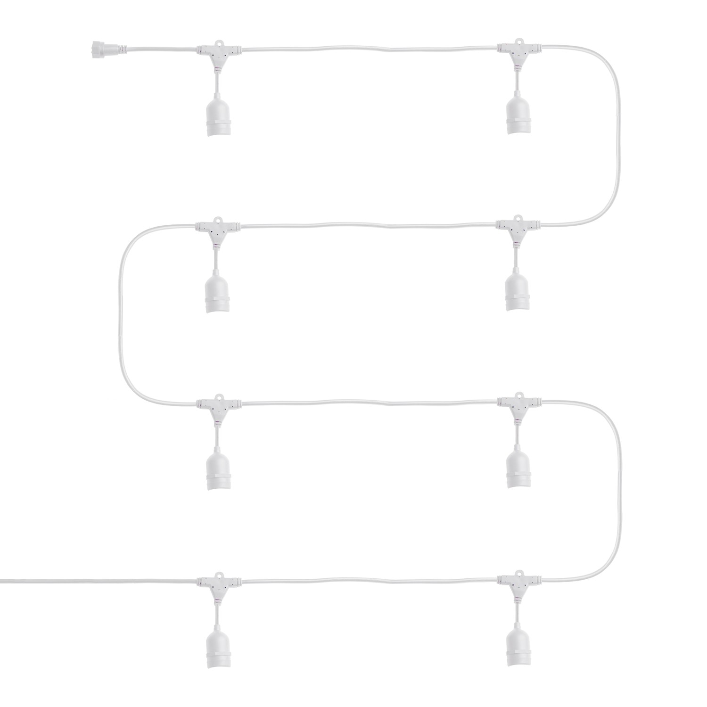 Guirnalda-Waterproof-IP65-con-8-Portalamparas-E27-5-5m-Blanco miniatura 11