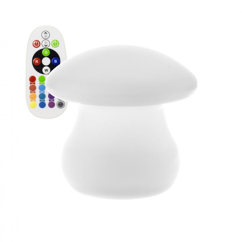Cogumelo LED RGBW Recarregável