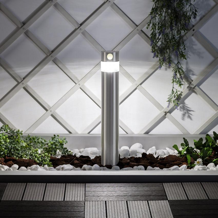 Baliza LED Solar Inti Inox com Detector de Movimento PIR