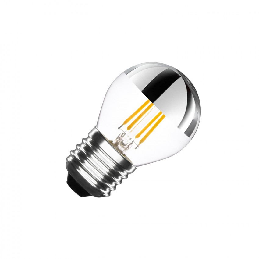 Bombilla LED E27 Regulable Filamento Chrome Reflect Small Classic G45 3.5W