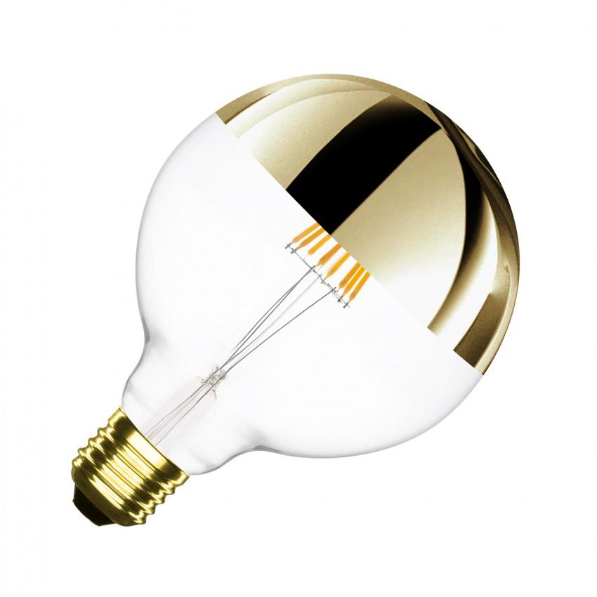 Bombilla LED E27 Regulable Filamento Gold Reflect Supreme G125 6W