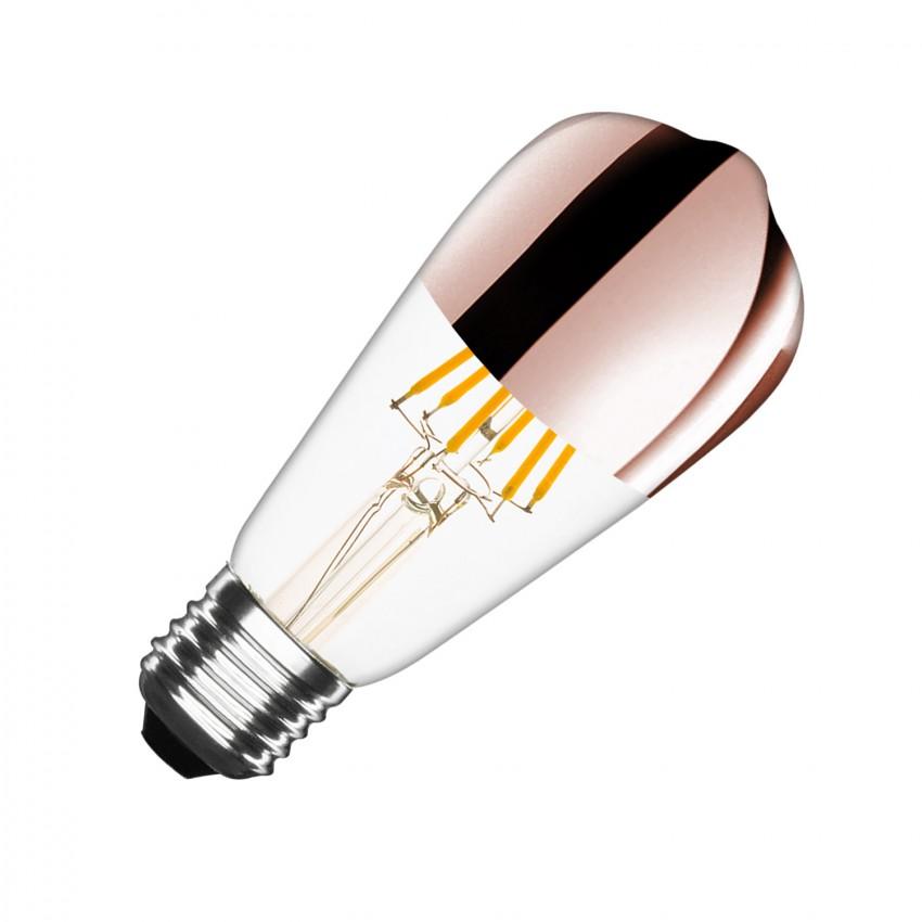 Lâmpada LED E27 Regulável Filamento Copper Reflect Big Lemon ST64 7.5W
