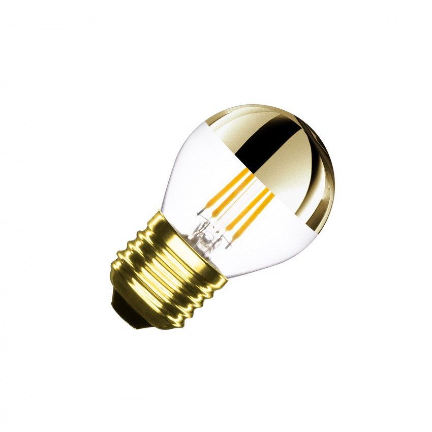 Lâmpada LED E27 Regulável Filamento Gold Reflect Small Classic G45 4W
